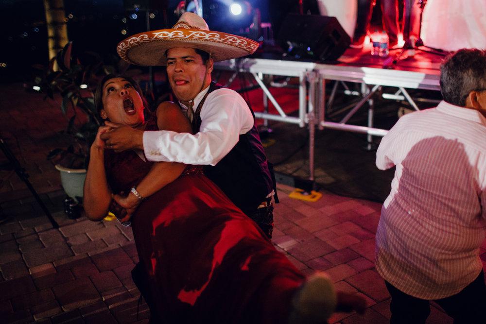 San Diego Wedding Photographer | groom and his step mom dancing