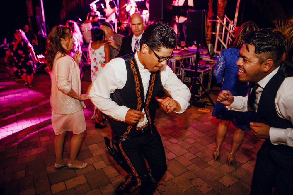 San Diego Wedding Photographer | groom dancing traditional Mexican dance