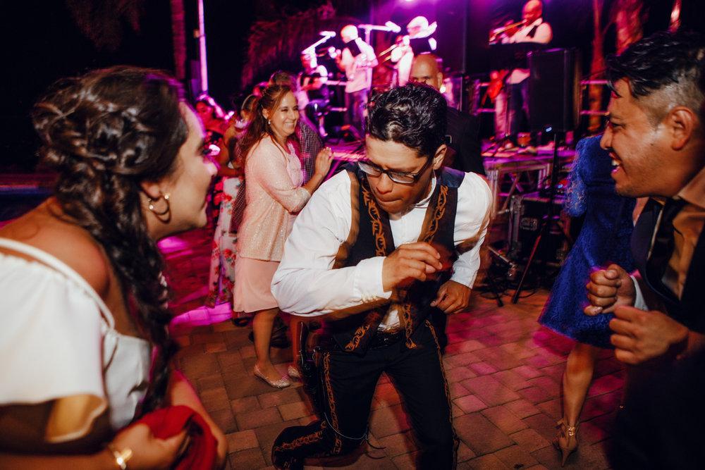 San Diego Wedding Photographer | groom dancing at the reception