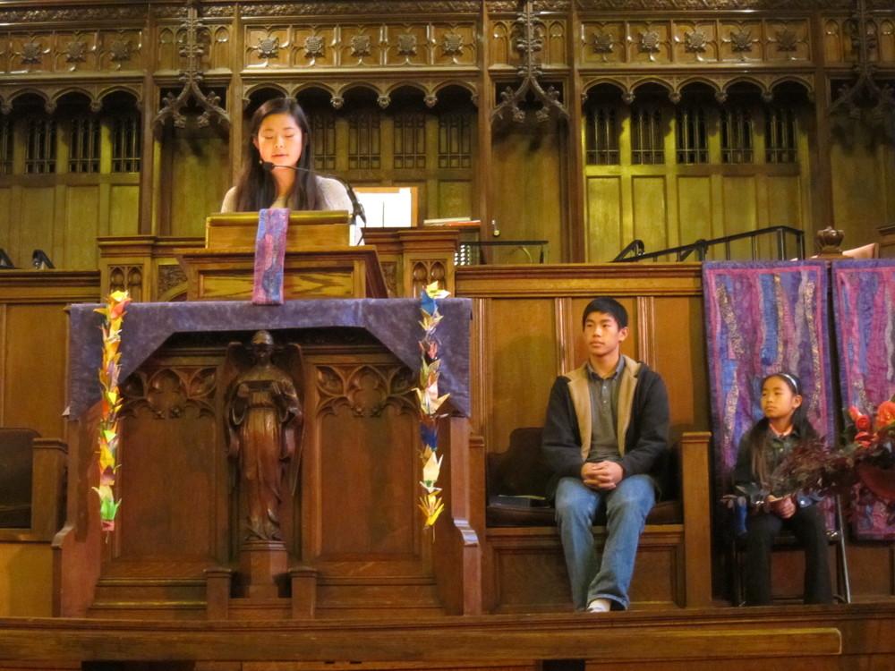 youth leading worship.JPG