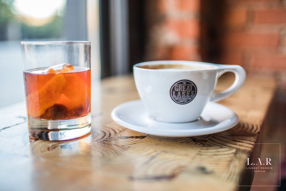 Detroit Engagement Photo | IGreat Lakes Coffee Roasting Co| L.A.R. Weddings