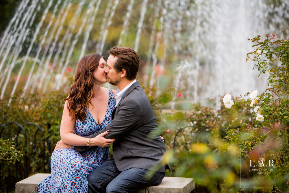 Zoe & Anthony | Columbus Park of Roses Engagement Session