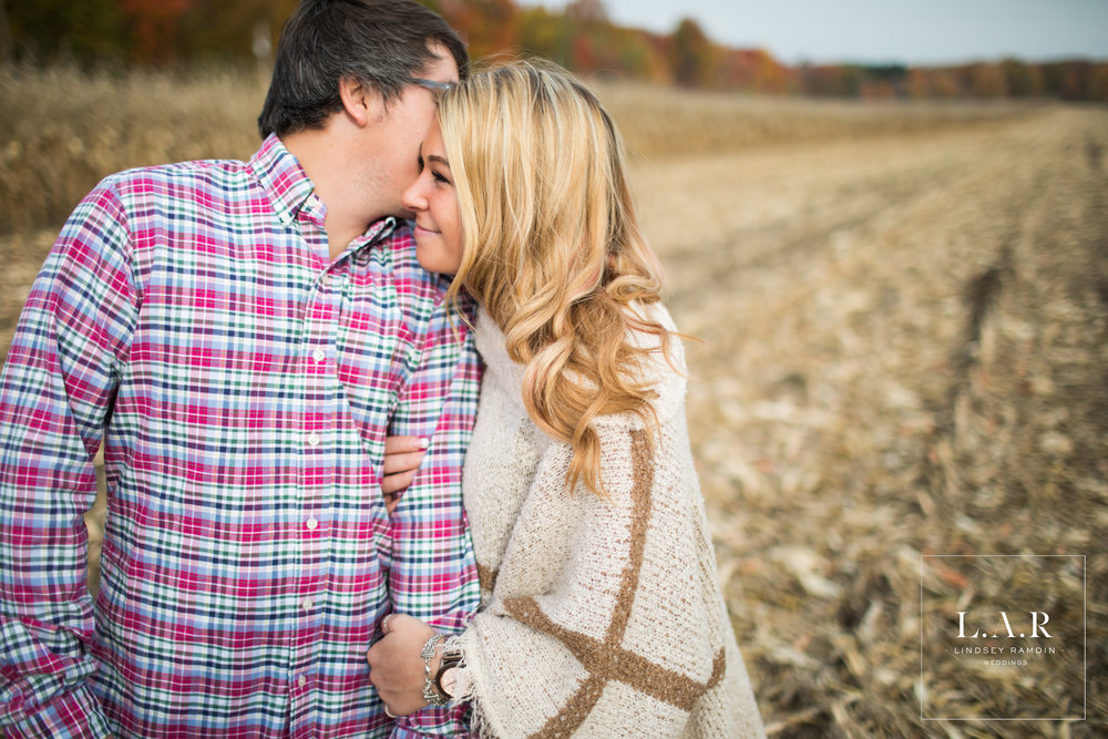 Ohio Farm Engagement Photo | L.A.R Weddings | Lindsey Ramdin