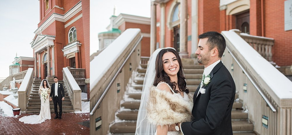 Youngstown Ohio Winter Wedding at Mt. Carmel Church
