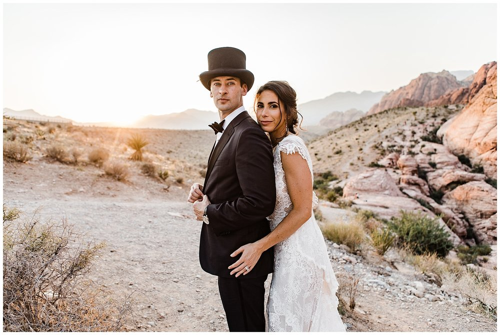 Red Rock Canyon Elopement photo by Lindsey Ramdin, L.A.R. Weddings