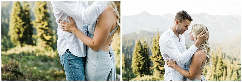 Mount Rainier National Park Engagement Session at Tipsoo Lake | Lindsey Ramdin | L.A.R. Weddings | Seattle Wedding Photographer | Cleveland Wedding Photographer