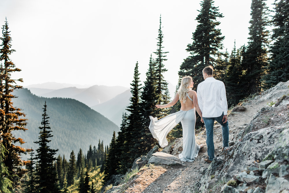 Best Seattle Wedding Photographer | Mt. Rainier National Park Engagement Session | Adventure Session | Mountain Elopement