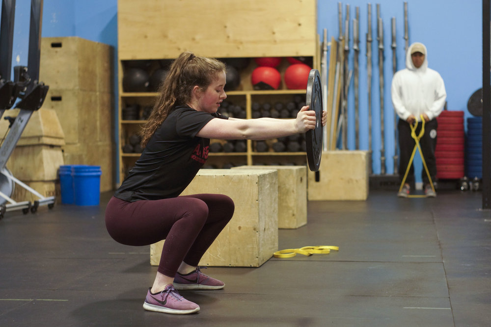 This squat drill will help improve glute recruitment, thoracic spine mobility and core strength/stability.