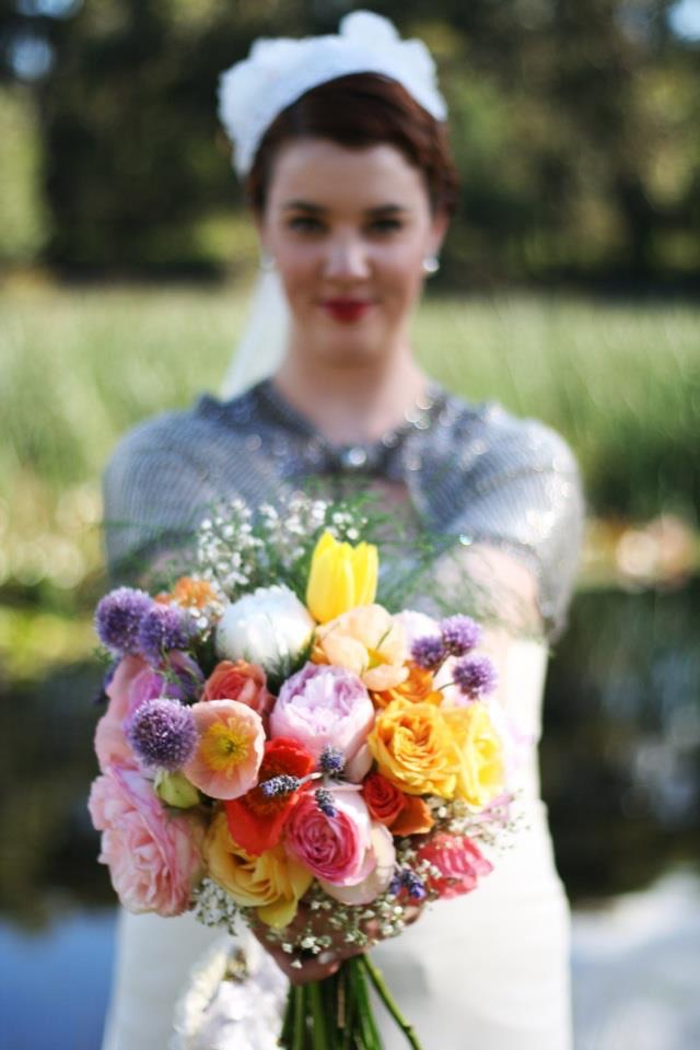 My own wedding bouquet. Yes - I hired a florist to do this for me!