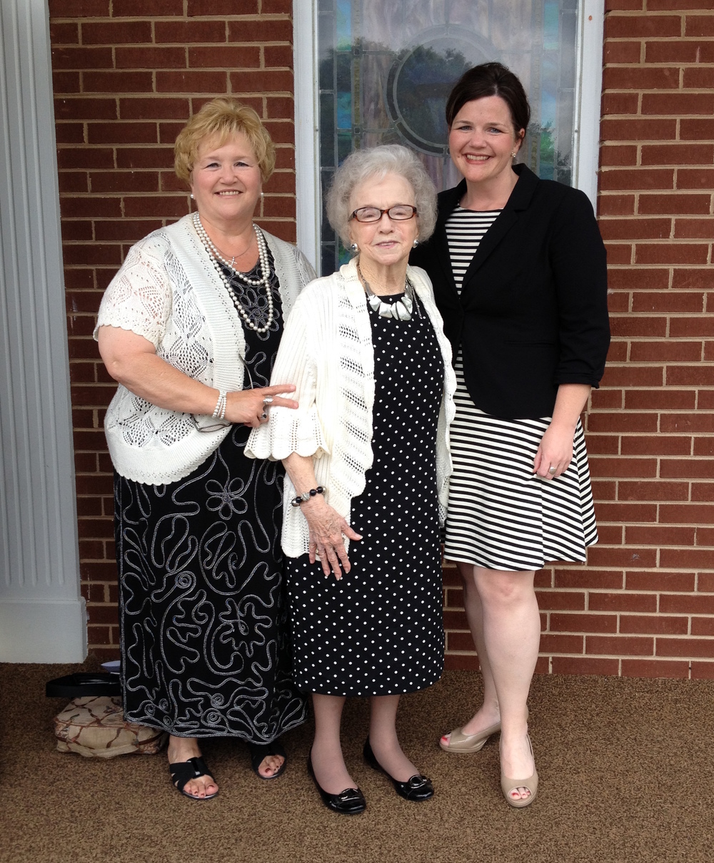 Deanna celebrating Mother's Day with her Mom and 86 year-old grandmother, Nanny Turner.  Iron Station, NC - 2015