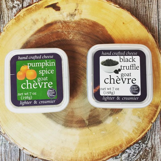 Fall chèvre flavors coming your way soon:  #seasonal #pumpkinspice #pumpkineverything  #truffleseason #truffles #fallisintheair