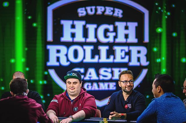 || we are LIVE with day 2 of the super high roller cash game. nearly a million on the table and @dnegspoker in the mix! watch it live at PokerGO.com || @pokercentral || #poker #vegas #highroller