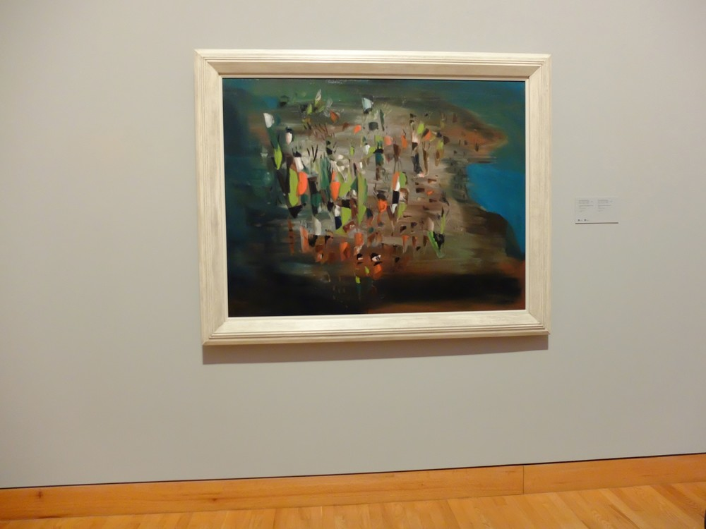 Paul-Émile Borduas,  Leeward of the Island  or    1.47 , 1947, oil on canvas, 114.7 x 147.7 cm, National Gallery of Canada, Ottawa. This work was displayed in the second Automatiste exhibition, in 1947