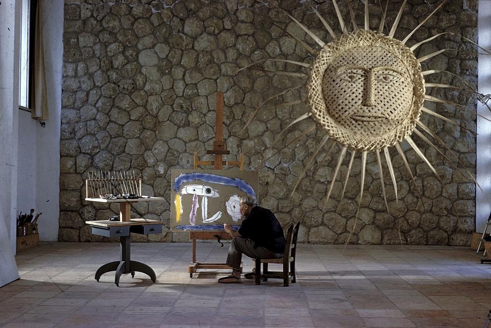 a crouching  Jean Miró