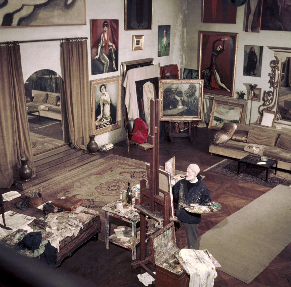 seen from above in Kees Van Dongen's studio
