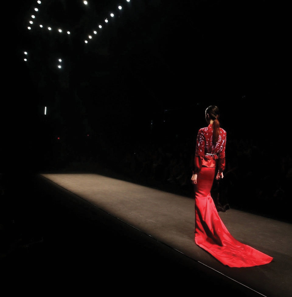 The first artistic runway shot Peter captured, in 2013 for Ji Cheng's show in Shanghai