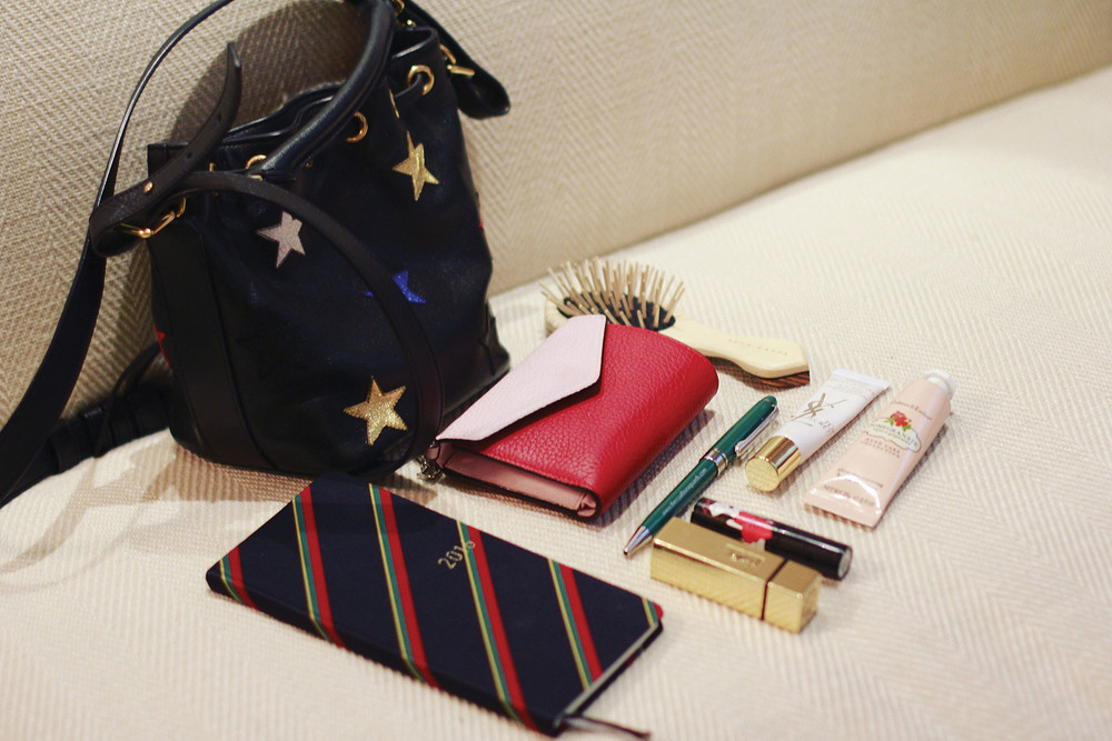 A peek inside Becky's bag