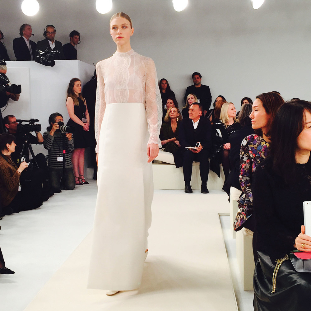 The runway show that most impressed him was Valentino's haute couture show at the Whitney Museum in New York