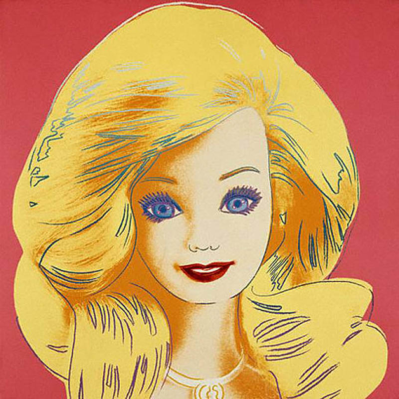 9. Barbie as depicted by Andy Warhol