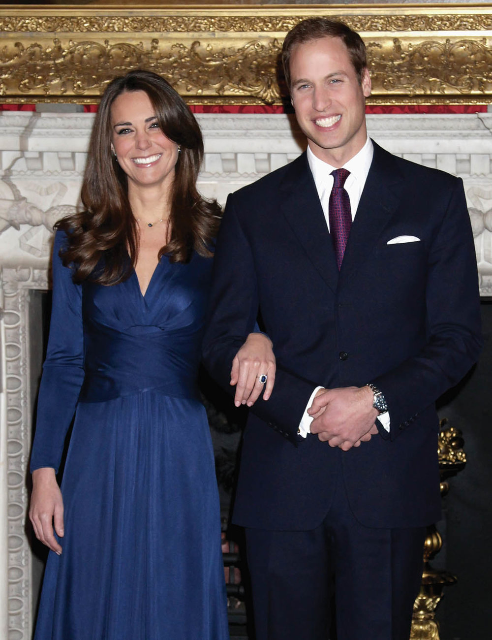 In 2010, Prince William wore a dark navy suit by Gieves & Hawkes for his engagement announcement