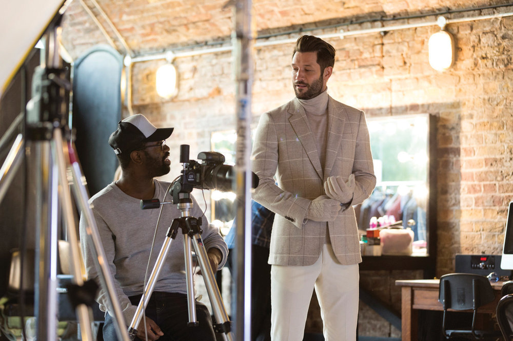 Behind the scenes of a photo shoot for the brand's autumn/winter 2016