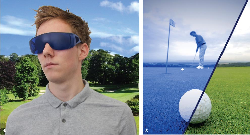 4-5. The Golf Ball Finder glasses by Thumbs Up help you find your ball