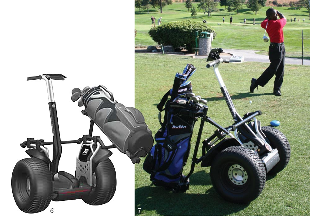 6-7. The Segway PT X2 Golf redefines the traditional golf cart