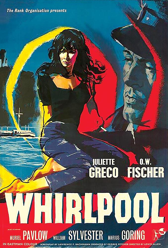 The film poster for Whirlpool (1959)