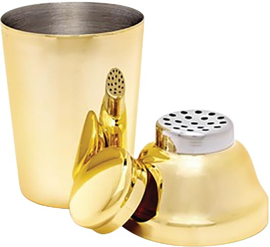 The Shaker, Odeme - Experiment with your recipes using this glossy, gold-toned cocktail shaker – it'll definitely make your drinks more stylish.
