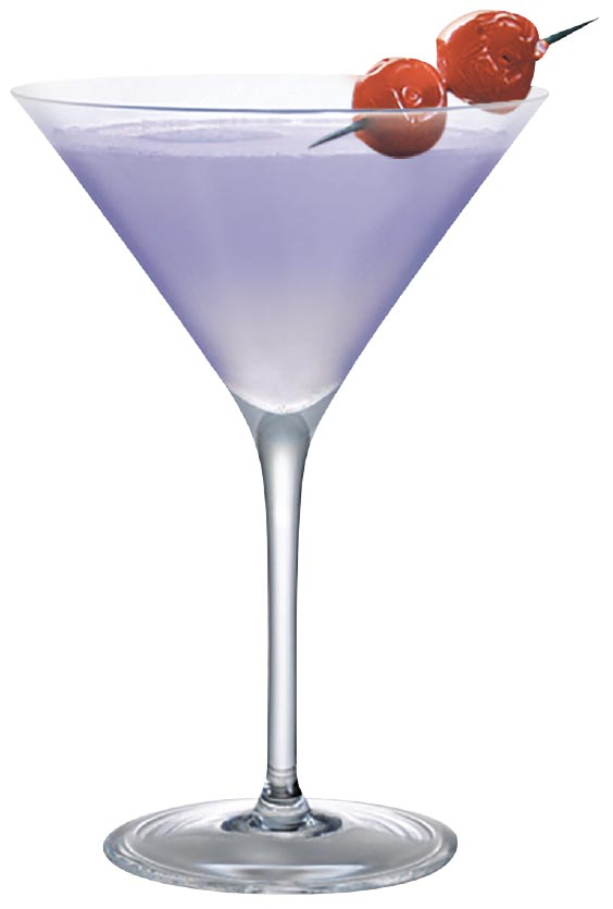 Cocktail of Choice: The Aviation - 2 oz gin liqueur ½ oz Maraschino½ oz lemon juice¼ oz crème de violette
