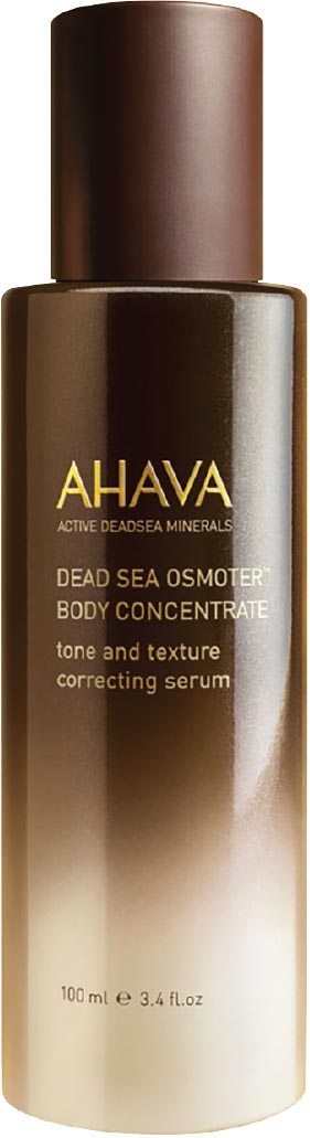 Dead Sea Osmoter Body Concentrate, Ahava - This product is formulated based on the brand's proprietary Osmoter, which is a high-intensity concentrate from Dead Sea minerals. Use it as a refreshing serum to instantly rehydrate and recharge the skin when you feel uncomfortable after a day under the sun's harsh rays.(ahavahongkong.com)