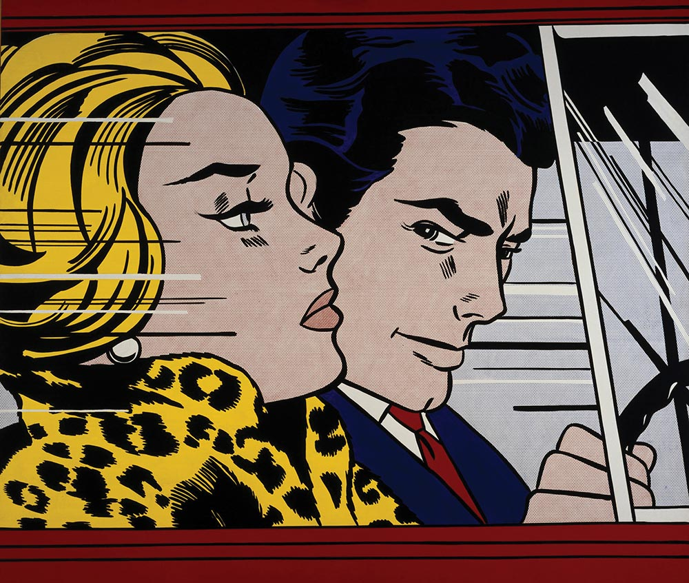 In the Car (1963) by Roy Lichtenstein