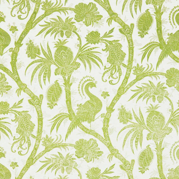 Balinese Peacock wallcovering, Scalamandré