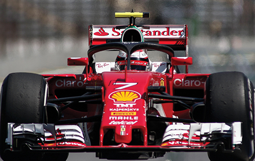 "Scuderia Ferrari driver Kimi Räikkönen tests the so-called ""halo"" cockpit protection device during the first practice session of the Formula One Brazilian Grand Prix in São Paulo on November 11, 2016"