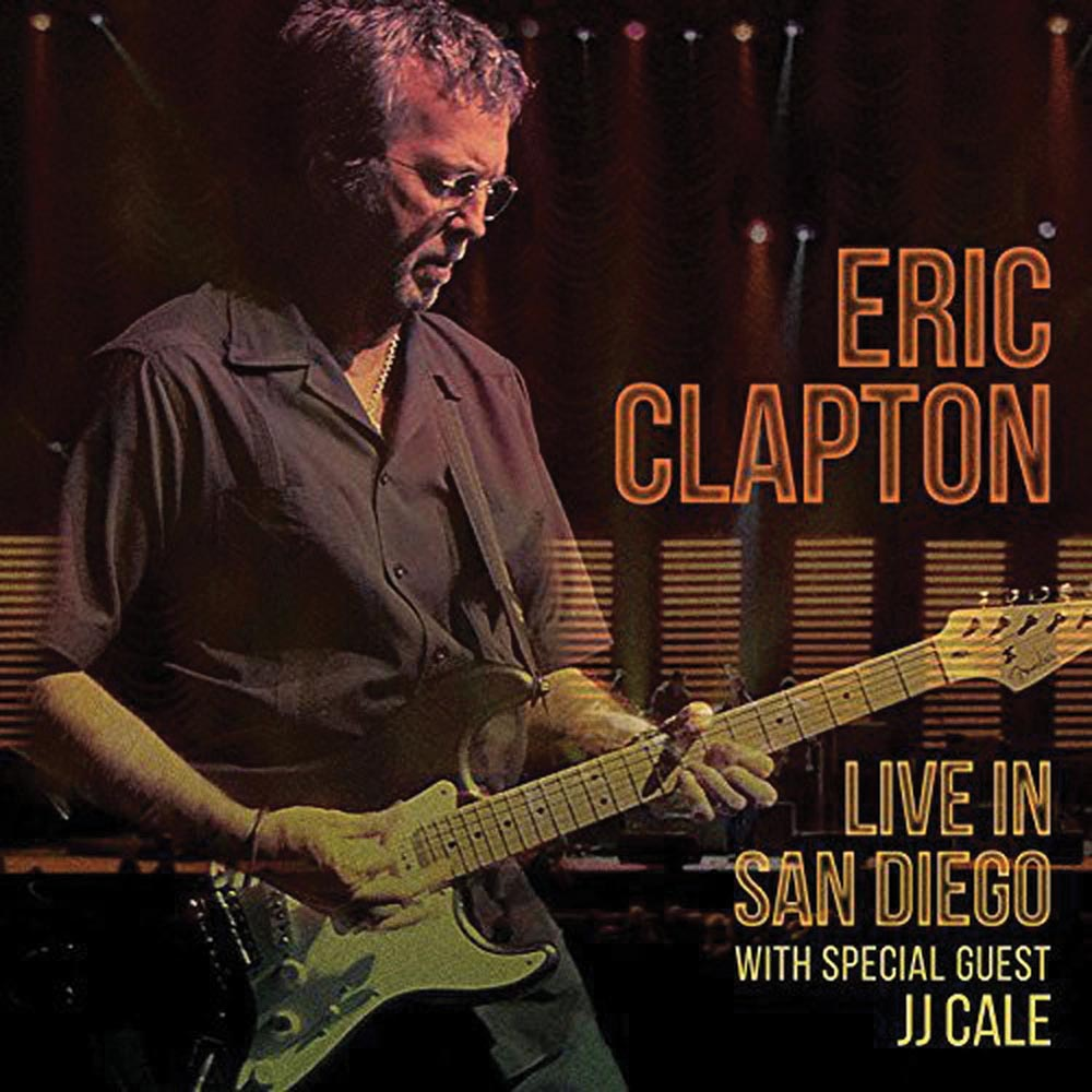 """Eric Clapton     Live in San Diego    """"Clapton is God"""" read the graffiti on walls across London when the guitarist burst on the scene in the 1960s. This live album, recorded in 2007 (with Clapton mentor JJ Cale as special guest) showcases his blues-infused mastery of the guitar on several of his best known songs, including """"Layla"""" and """"Tell the Truth""""."""