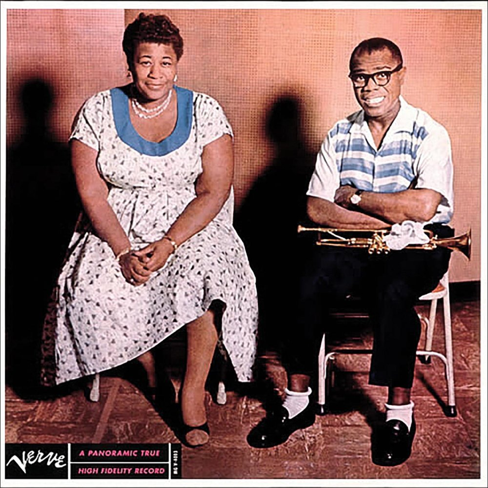 """Ella Fitzgerald & Louis Armstrong     Ella and Louis    Don't be misled by the homely cover photo – this 1956 album brought together two of the giants of jazz for a glorious selection of duets. Listening to their gorgeous """"April in Paris"""", you can almost picture them singing it as they stroll along the banks of the Seine."""