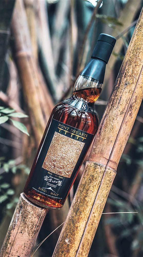 Pont des Arts Fuji Sanroku 18-year-old single malt Japanese whisky