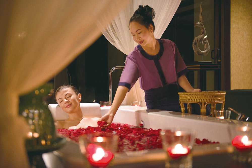 Spa treatments at the Banyan Tree Lang Co