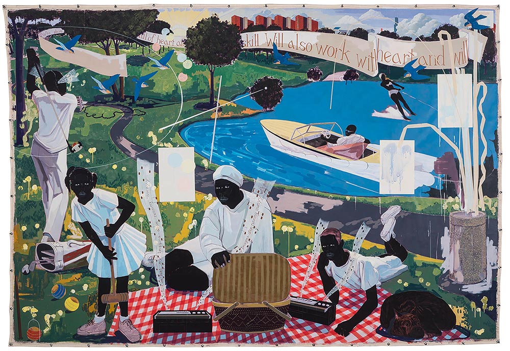 Past Times  (1997) by Kerry James Marshall set a record for a living black artist when it sold for US$21.1 million at Sotheby's this May