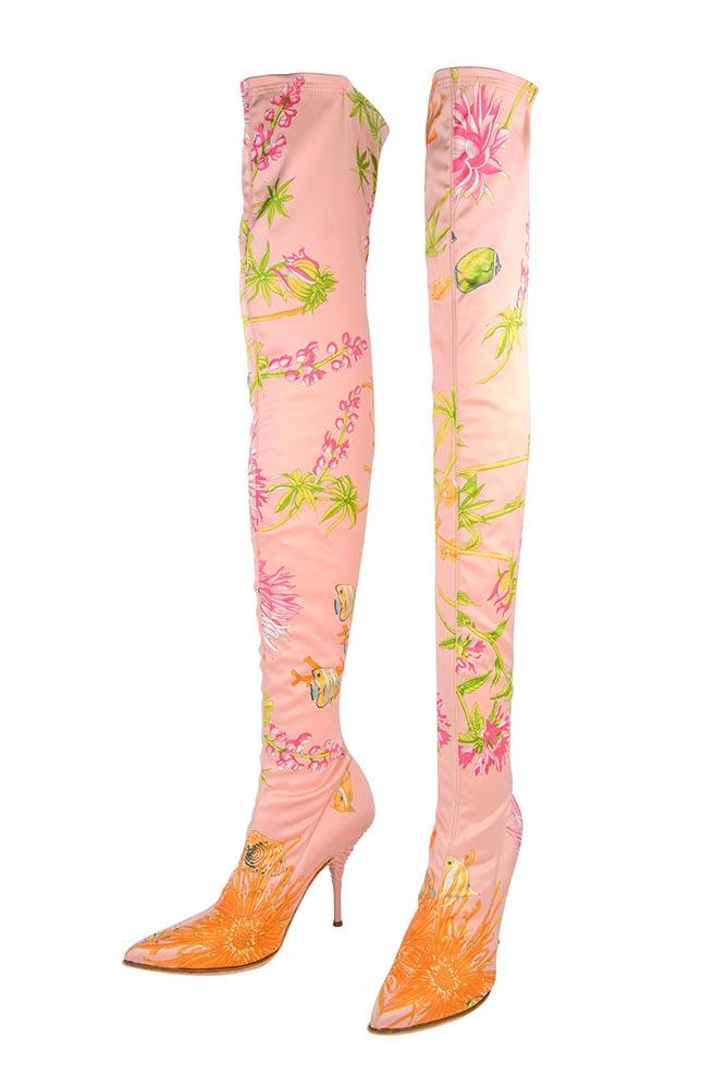 Boots designed by Salvatore Ferragamo for Karen Mok's recent concert series