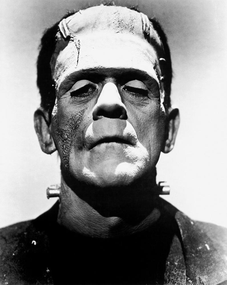 Boris Karloff, the actor who immortalised the character of Frankenstein's monster, from  The Bride of Frankenstein  (1935)