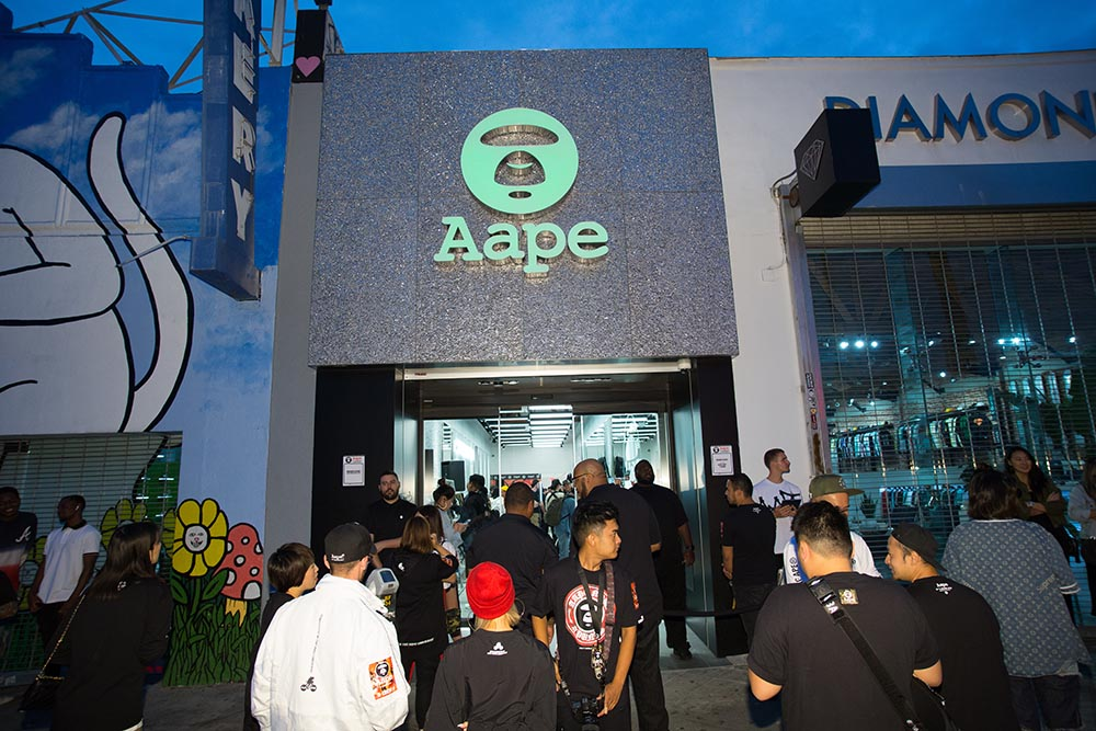 2017: AAPE by A BATHING APE® Store Opening in LA