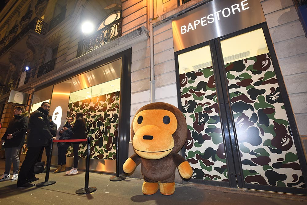 2017: A BATHING APE® Store Opening in Paris