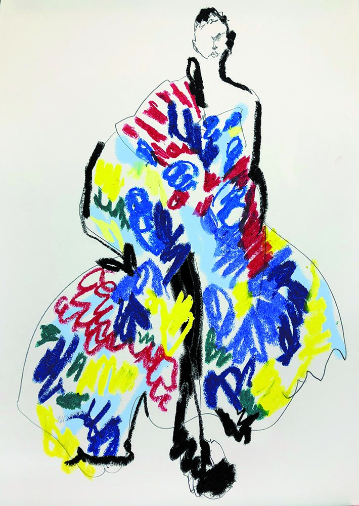 Sketch of SS19 collection inspired by Madame Ching