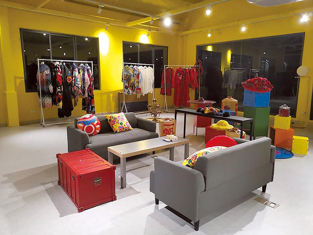 The brand's office and showroom in Shanghai