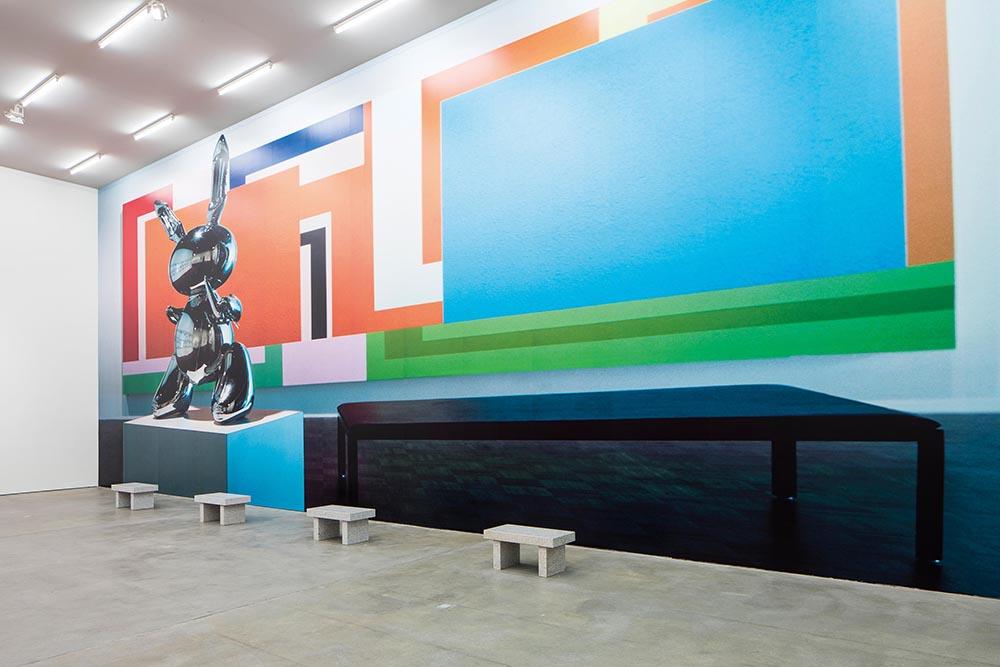 Installation view of  Eau de Cologne: Jenny Holzer, Barbara Kruger, Louise Lawler, Cindy Sherman, Rosemarie Trockel , Sprüth Magers, Berlin, 2015
