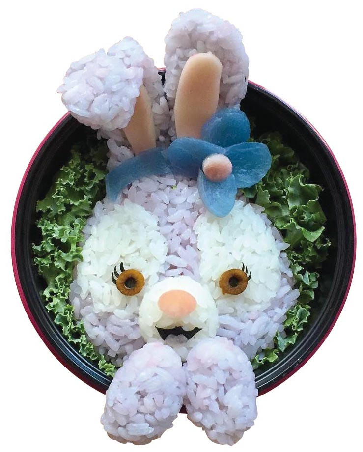 OMGiri's edible rendition of StellaLou, the cute bunny character at Tokyo DisneySea