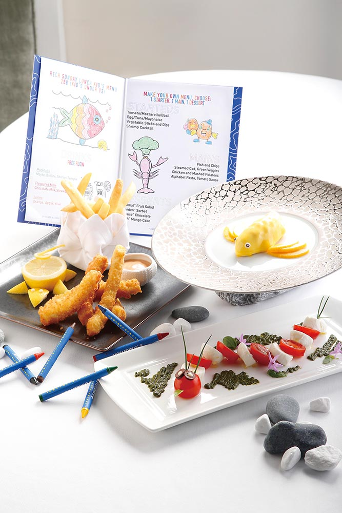 Even the children get to have a bit of fun with Rech's kids' menu