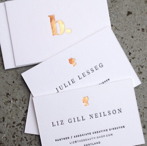 Studio olivine business cards accoutremants printed with letterpress and foil reheart Gallery
