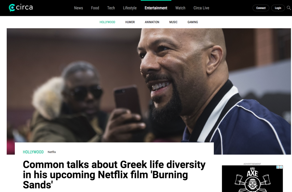 Common talks greek life diversity in upcoming netflix film